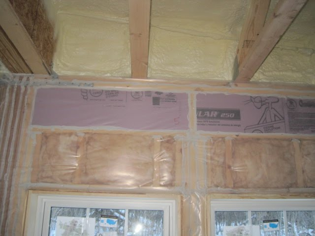 01/22/14 - Rigid Foam Insulation (Headers u0026 Basement) and Spray Foam Insulation (Rims Cantilevered Floors u0026 other difficult areas to install batt ... & 01/22/14 - Rigid Foam Insulation (Headers u0026 Basement) and Spray Foam ...